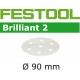 Disques abrasifs Festool STF D90/6 BR2 grain 150 par 100