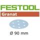 Disques abrasifs Festool STF D90/6 GR grain 150 par 100