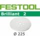 Disques abrasifs Festool STF D225/8 BR2 grain 240 par 25