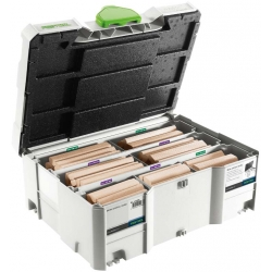 Assortiment de DOMINO XL Festool en hêtre DS/XL D12/D14 128 BU