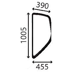 Vitre laterale gauche Doosan Dx140 W