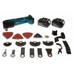 MAKITA Découpeur Ponceur sans fil 4AH- 18V DTM51RMJX3 avec accessoires