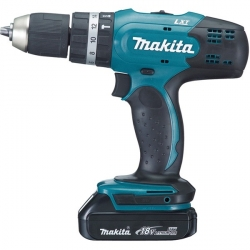 Makita Perceuse visseuse à percussion 18 V Li-Ion 1,5 Ah Ø 13 mm DHP453RYJ