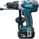 Makita Perceuse visseuse à percussion 18 V Li-Ion 4 Ah Ø 13 mm DHP458RMJ