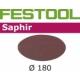 Disques abrasifs Festool STF D180/0 SA grain 36 par 25