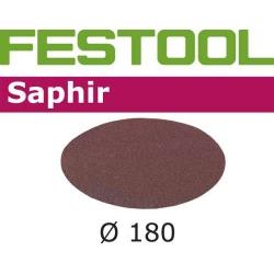 Disques abrasifs Festool STF D180/0 SA grain 80 par 25