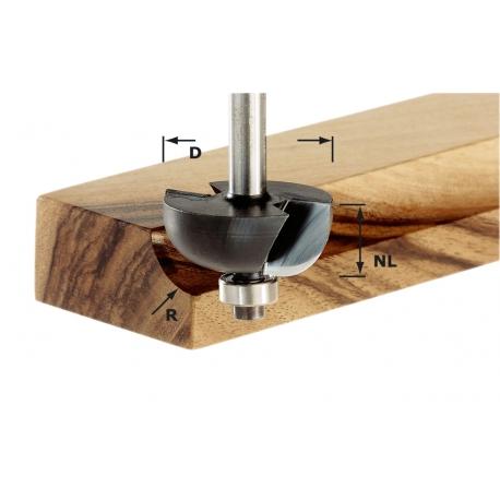 Fraise à gorge creuse avec roulement Festool S8 HW D38,1/R12,7 K
