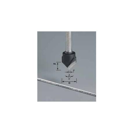 Fraise à rainurer en V Festool S8 HW D18-90° (Alu)