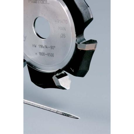 Fraise à rainurer en V Festool HW 118x18-135°/Alu