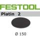 Disques abrasifs Festool STF D150/0 PL2 grain 400 par 15