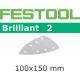 Abrasifs Festool STF Delta/100x150/7 BR2 P150 par 100