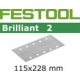 10 FEUILLES ABRASIVES STF115X228-grain 40-BR2/ 10