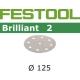 Disques abrasifs Festool STF D125/90 BR2 grain 120 par 100