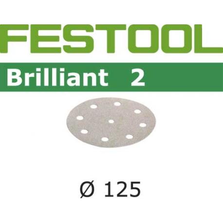 Disques abrasifs Festool STF D125/90 BR2 grain 180 par 100
