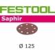 Disques abrasifs Festool STF D125/90 SA grain 80 par 25