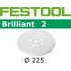 Disques abrasifs Festool STF D225/8 BR2 grain 220 par 25