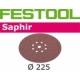Disques abrasifs Festool STF D225/8 SA grain 24 par 25