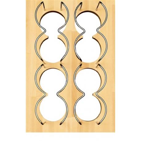 Porte bouteilles bois pour tiroir 40 cm