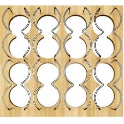 Porte bouteilles bois pour tiroir 60 cm