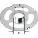 Bague de copiage Festool KR-D 17,0/OF 2200