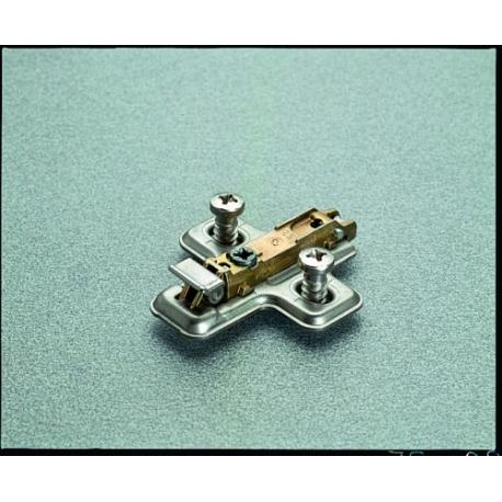 Embase clipsable vis euro premontee epaisseur 0mm