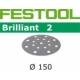 Disques abrasifs Festool STF D150/16 BR2 grain 80 par 10
