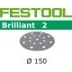 Disques abrasifs Festool STF D150/16 BR2 grain 120 par 100
