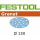 Disques abrasifs Festool STF D150/16 GR grain 80 par 10