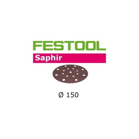 Disques abrasifs Festool STF D150/16 SA grain 24 par 5