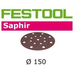 Disques abrasifs Festool STF D150/16 SA grain 50 par 5