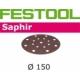Disques abrasifs Festool STF D150/16 SA grain 36 par 25