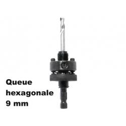 Arbre entrainement scie trépan 32 à 210 mm avec forets