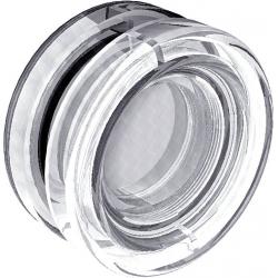 Poignée cuvette polycarbonate pour porte en verre